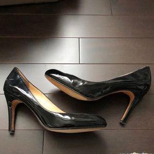 Expression Shoes - Black Patent Almond Toe Pumps